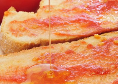 17795279 - pa amb tomaquet, bread with tomato, typical of catalonia, spain